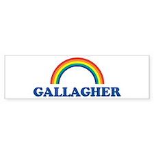GALLAGHER (rainbow) Bumper Bumper Sticker