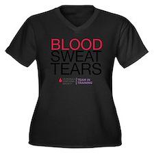 blood.sweat Women's Plus Size Dark V-Neck T-Shirt
