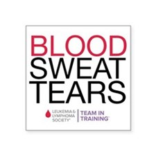 "blood.sweat Square Sticker 3"" x 3"""