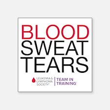 "blood.sweat Square Sticker 3"" x 3"""