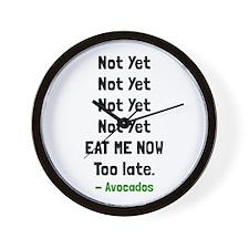 Eat Avocados Wall Clock