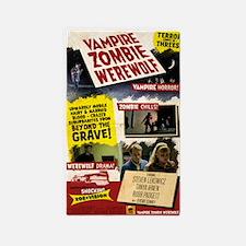 Vampire Zombie Werewolf Vintage Pos 3'x5' Area Rug