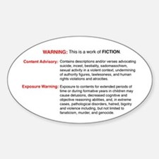Bible Warning Oval Decal
