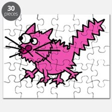 Scaredy Cat10x10pink Puzzle