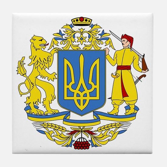 escudo_nacional_de_ucrania_6x6 Tile Coaster
