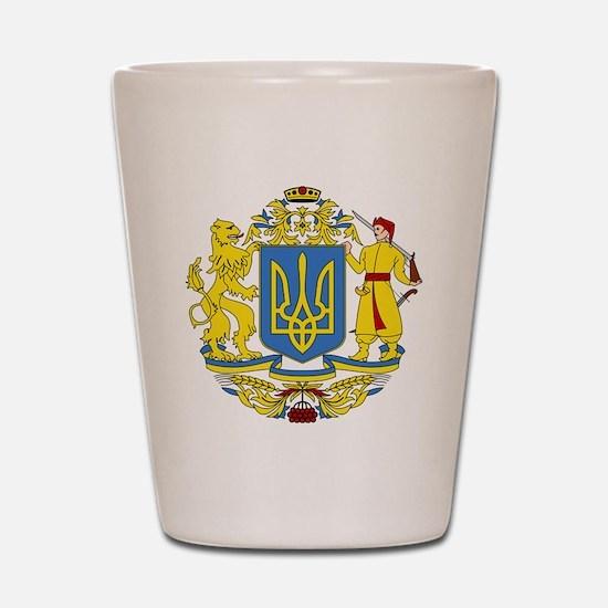 escudo_nacional_de_ucrania_6x6 Shot Glass