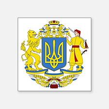 """escudo_nacional_de_ucrania_ Square Sticker 3"""" x 3"""""""