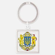 escudo_nacional_de_ucrania_6x6 Square Keychain
