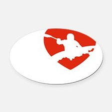 kayaking1 Oval Car Magnet