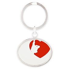 kung-fu1 Oval Keychain