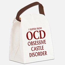 ocd4 clear red Canvas Lunch Bag