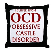 ocd4 clear red Throw Pillow