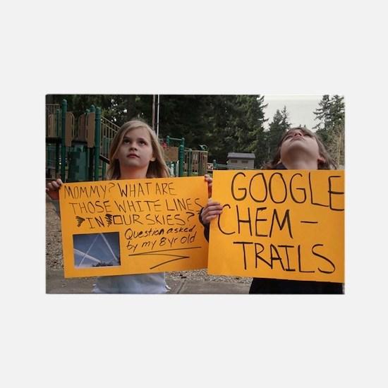 google chemtrails Rectangle Magnet