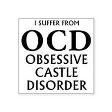 "newocd block Square Sticker 3"" x 3"""