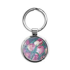 tulips Round Keychain