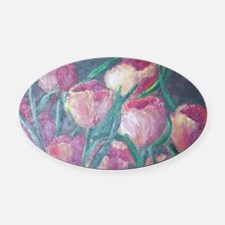tulips Oval Car Magnet