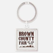 BrownCountyFair Square Keychain