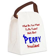 perry-prez-light Canvas Lunch Bag
