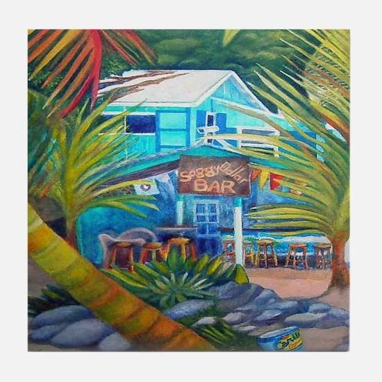 P5160396 White Bay Bvi Tile Coaster