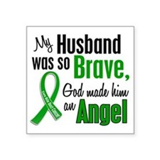 "Angel 1 Husband Bile Duct C Square Sticker 3"" x 3"""