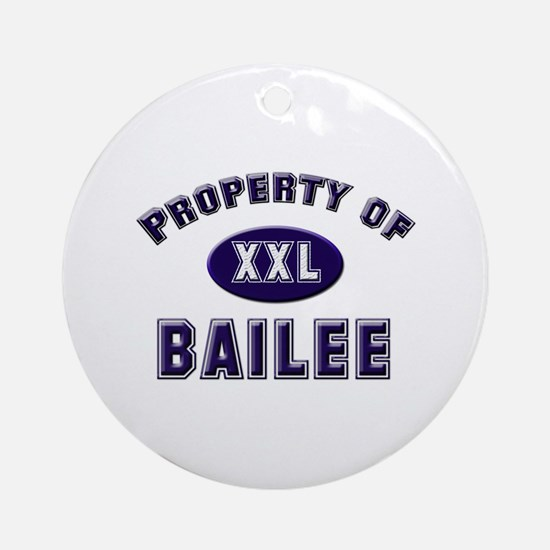 Property of bailee Ornament (Round)
