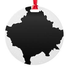Kosovo Map Carbon Ornament