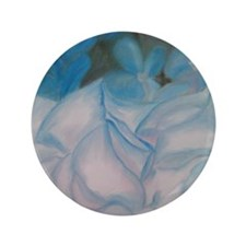 "Blue Flowers 3.5"" Button"