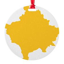 Kosovo Map Yellow Ornament