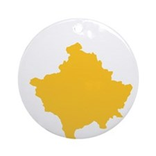 Kosovo Flag Round Ornament