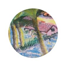 "Tropical Scene 3.5"" Button"