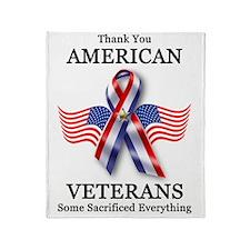 American Veterans 3 Throw Blanket