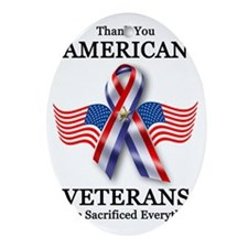 American Veterans 3 Oval Ornament