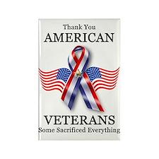 American Veterans 3 Rectangle Magnet