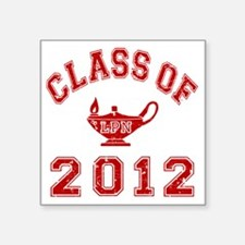 """CO2012 LPN Red Distressed Square Sticker 3"""" x 3"""""""