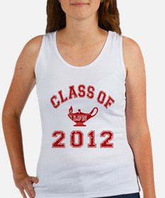 CO2012 LPN Red Distressed Women's Tank Top