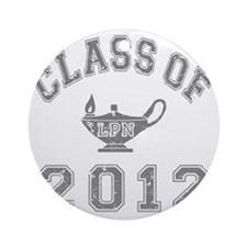 CO2012 LPN Gray Distressed Round Ornament