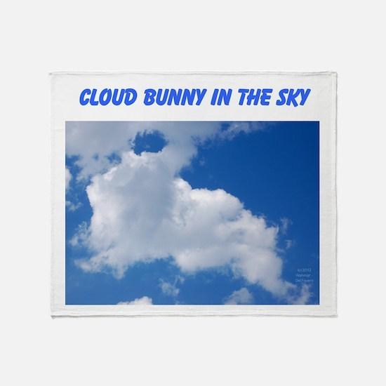 CLOUD BUNNY IN THE SKY Throw Blanket