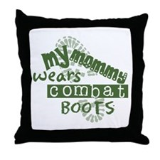 Funny Air force my daughter Throw Pillow