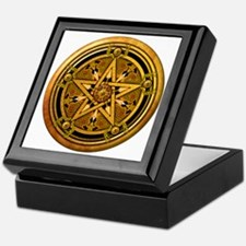 Masculine Gold Pentacle Keepsake Box