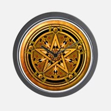 Masculine Gold Pentacle Wall Clock