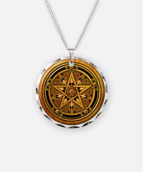 Masculine Gold Pentacle Necklace