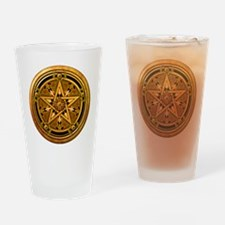 Masculine Gold Pentacle Drinking Glass