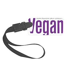Vegan-CompassionOverCruelty Luggage Tag