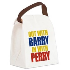 OUT WITH big type Canvas Lunch Bag