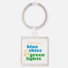 The Skydivers Wish Square Keychain