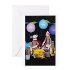 The Birthday Party - Sock Monkey Greeting Cards