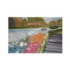 Scenic View Rectangle Magnet