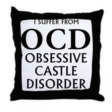 ocd3 clear Throw Pillow
