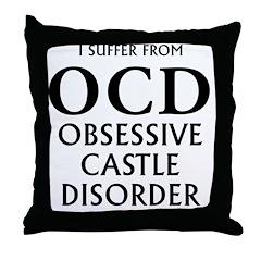 ocd3 clear Throw Pillow