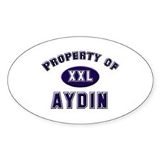 Property of aydin Oval Decal